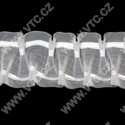 Curtain tape - smocking, transparent, 50 mm