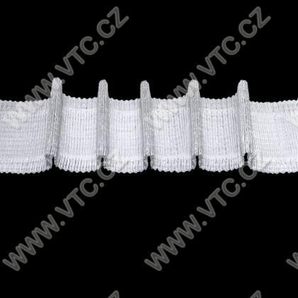 Curtain tape - pencil pleat, Velcro-friendly, 38mm
