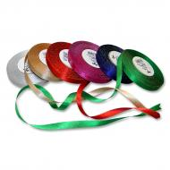 Satin ribbon 10 mm metallic