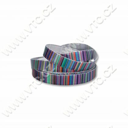 Printed satin ribbon 10 mm Lines
