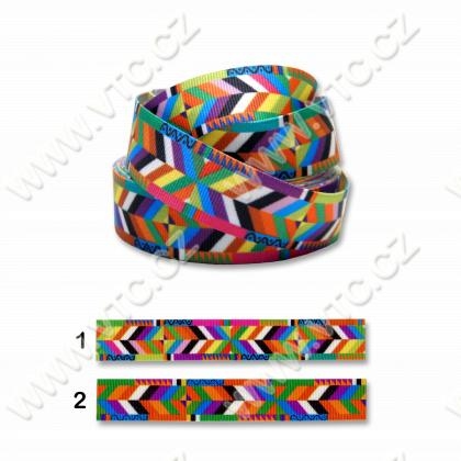 Printed grosgrain ribbon 20 mm Aztec1