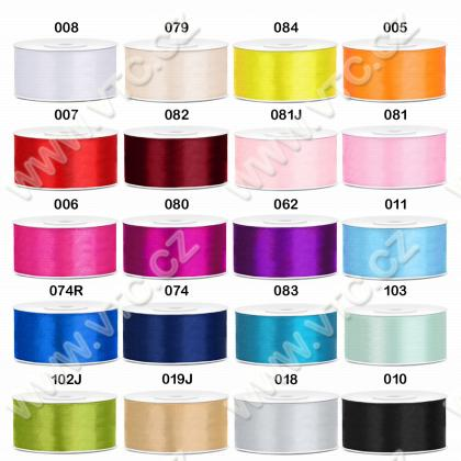 Satin ribbon 38 mm single-faced