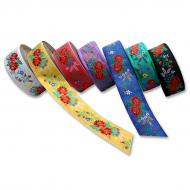 Embroidered ribbon 55 mm