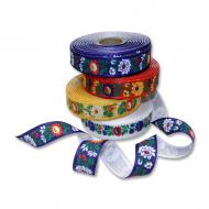 Folk costume ribbon printed 20 mm