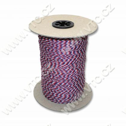 Twisted cord - tricolor 1,4 mm - 500 m