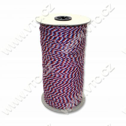 Twisted cord - tricolor 2 mm - 400 m