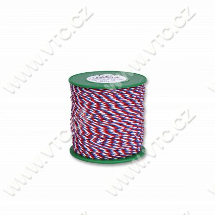 Twisted cord - tricolor 1,6 mm - 100 m