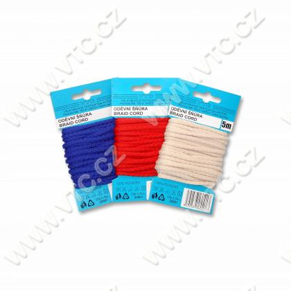 Braided cord PES 4 mm - card 5 m