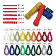Satin twirled cord 6,5 mm
