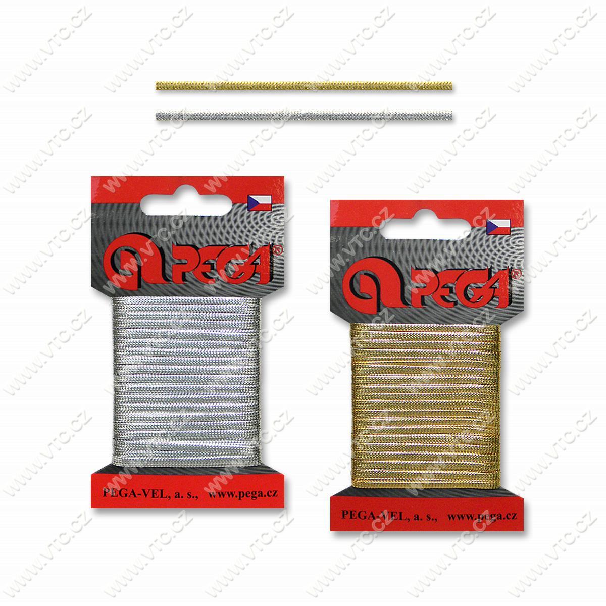 Metallic braid 3 mm, card 5 m | VTC JSC