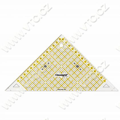 Quick triangle ruler - 1/2 squares