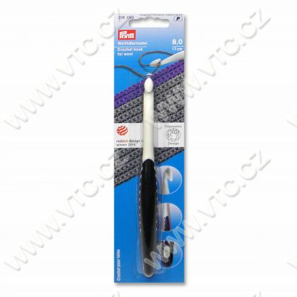 Crochet hook ergonomic 8 mm-17 cm