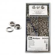 Eyelets 5 mm with washers NI 500 pcs