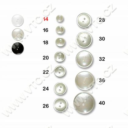 Polyester button 14 - 2 holes