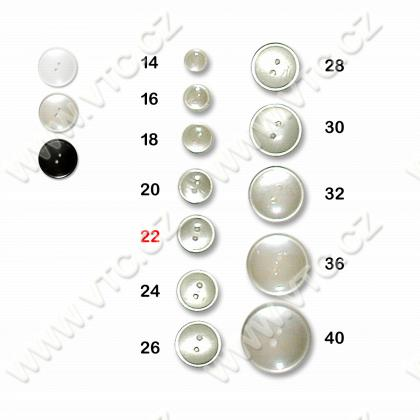 Polyester button 22 - 2 holes