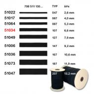 Elastic band 6,6 mm black