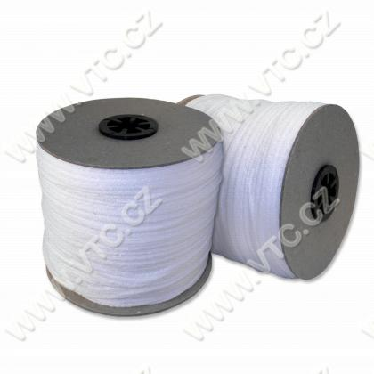 Round elastic 2 mm for face mask white 250 m
