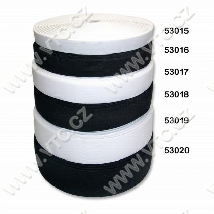 Elastic 21 mm white,black