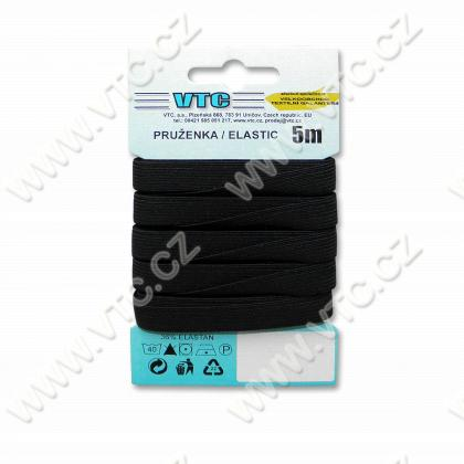 Standard elastic 10,6 mm black - card 5 m