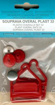 Plastic overalls set 32mm-card