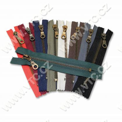 Old brass zippers P6Ms 20cm CE