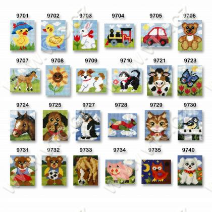 Cross stitch kit 17x20,5 cm