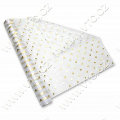 Organza w.36 cm double-sided Dots