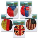 Iron-on patches 'flags'