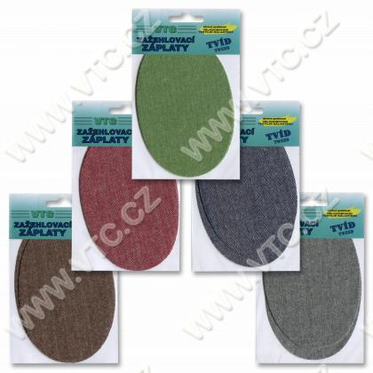 "Iron-on patches ""tweed"""