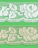 Cotton bobbin lace - 75 mm