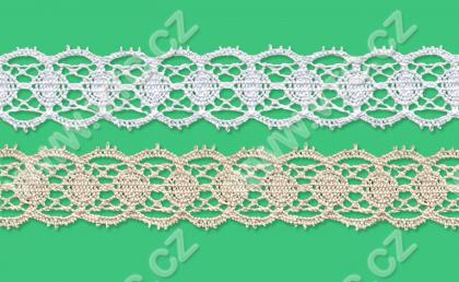 Cotton bobbin lace - 26 mm