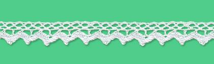 Cotton bobbin lace - 14 mm