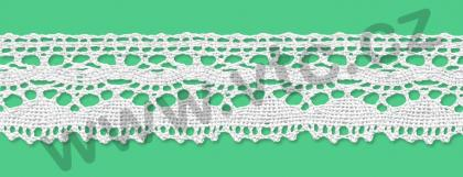 Cotton bobbin lace - 30 mm