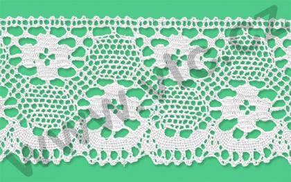 Cotton bobbin lace - 78 mm