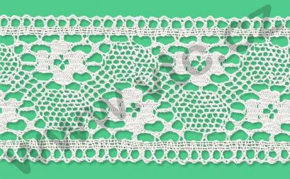 Cotton bobbin lace - 80 mm