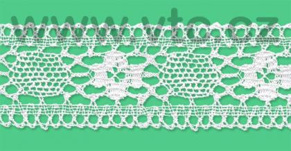 Cotton bobbin lace - 48 mm