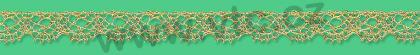 Metallic bobbin lace - 10 mm