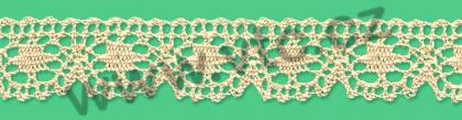Cotton bobbin lace - 25 mm