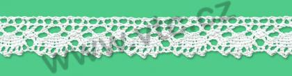 Cotton bobbin lace - 20 mm