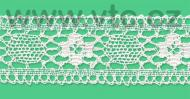 Cotton bobbin lace - 50 mm