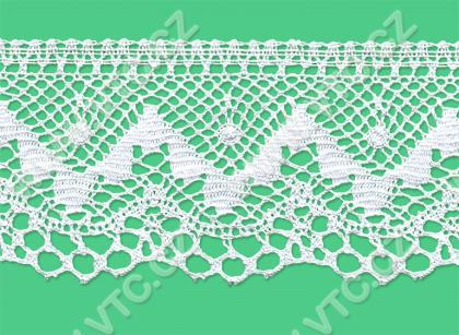 Cotton bobbin lace - 70 mm