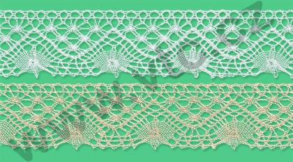 Cotton bobbin lace - 37 mm