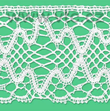 Cotton bobbin lace - 120 mm