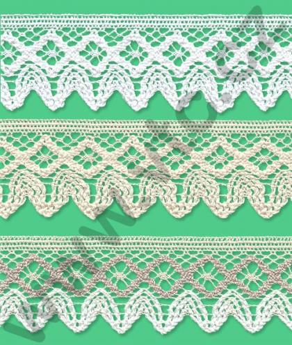 Cotton bobbin lace - 46 mm