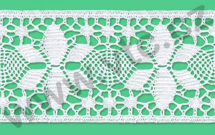 Cotton bobbin lace - 85 mm