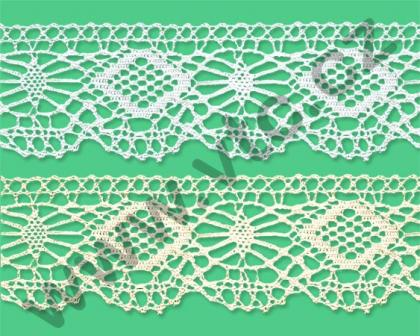 Cotton bobbin lace - 40 mm