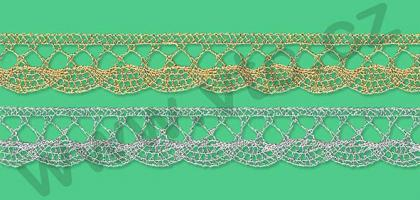 Metallic bobbin lace - 18 mm