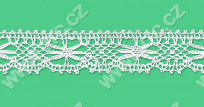 Cotton bobbin lace - 27 mm