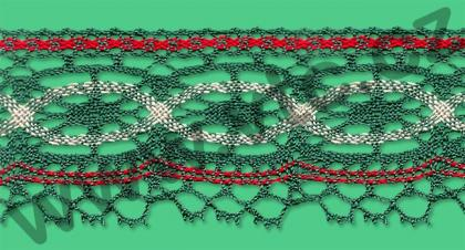Cotton bobbin lace - 57 mm