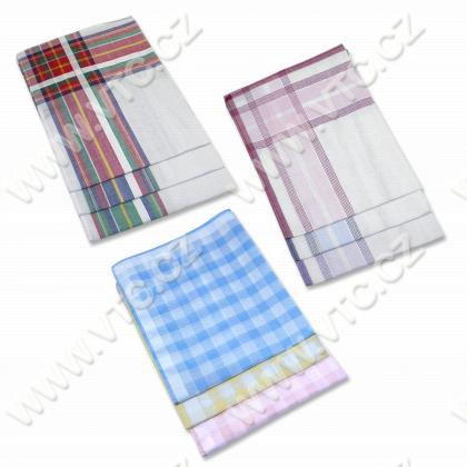 Ladies handkerchief color - 6pcs/pack